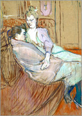 Vinilo para la pared  The two friends - Henri de Toulouse-Lautrec