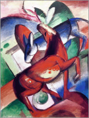 Póster  Horse and donkey - Franz Marc