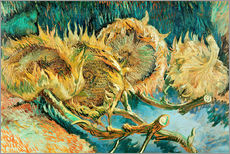Vinilo para la pared  Four Cut Sunflowers - Vincent van Gogh
