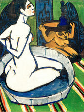 Cuadro de plexi-alu  Female nude in the tub - Ernst Ludwig Kirchner
