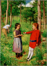 Vinilo para la pared  The Woodman's Daughter - Sir John Everett Millais