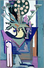 Vinilo para la pared  Meadow Flower with cat - Ernst Ludwig Kirchner