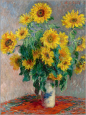 Vinilo para la pared  Florero con girasoles - Claude Monet