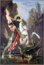 Cuadro de plexi-alu  St. George and the Dragon - Gustave Moreau
