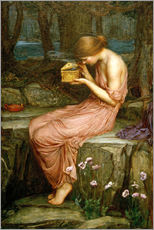 Cuadro de plexi-alu  Psique abre la caja de oro - John William Waterhouse