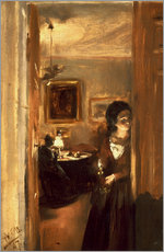 Vinilo para la pared  Living room with Menzels sister - Adolph von Menzel