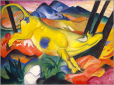 Vinilo para la pared  The yellow cow - Franz Marc
