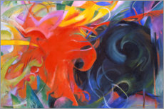 Vinilo para la pared  Fighting forms - Franz Marc