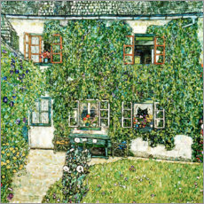 Póster  Forester's house in Weissenbach on Attersee lake - Gustav Klimt