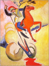 Vinilo para la pared  Saint George - August Macke