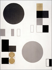 Vinilo para la pared  Composition with circles and rectangles - Sophie Taeuber-Arp