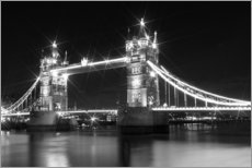 Vinilo para la pared  Tower Bridge by Night sw - Melanie Viola