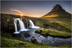 Vinilo para la pared  Fair Tyle Countryside in Iceland - Andreas Wonisch