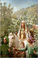 Vinilo para la pared  Queen Guinevere's Maying - John Collier