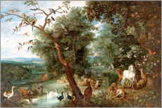 Cuadro de plexi-alu  The Garden of Eden with Adam and Eve - Jan Brueghel d.Ä.