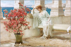 Cuadro de plexi-alu  Her eyes are with her thoughts and they are far away - Lawrence Alma-Tadema