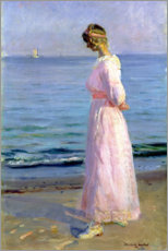 Póster Girl in a Pink Dress, 1914