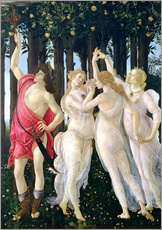 Vinilo para la pared  Detail of the Three Graces and Mercury, from the Primavera - Sandro Botticelli