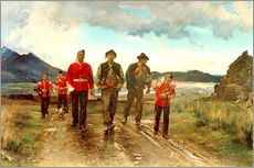Vinilo para la pared  'Listed for the Connaught Rangers': Recruiting in Ireland, 1878 - Lady Butler