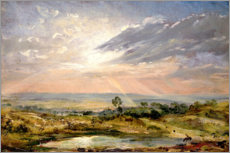 Vinilo para la pared  Branch Hill Pond, Hampstead - John Constable