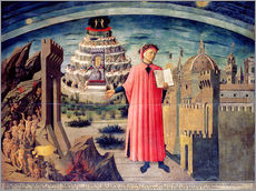 Cuadro de plexi-alu  Dante and his poem the Divine Comedy - Domenico di Michelino