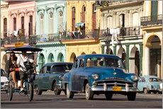 Vinilo para la pared  classic us cars in havanna, cuba - Peter Schickert