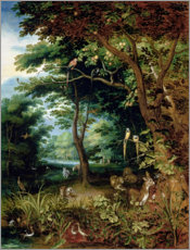 Cuadro de PVC  Paradise scene with Adam and Eve - Jan Brueghel d.J.