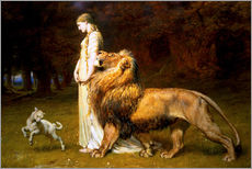 Cuadro de plexi-alu  Una and the Lion, from Spenser's Faerie Queene - Briton Riviere