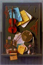 Cuadro de plexi-alu  The Old Cupboard Door - William Michael Harnett