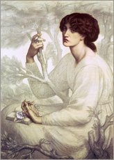 Vinilo para la pared  The Day Dream, study - Dante Charles Gabriel Rossetti