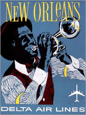 Vinilo para la pared  Fly to New Orleans