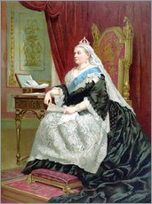 Vinilo para la pared  Portrait of Queen Victoria on her Golden Jubilee - English School