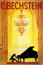 Vinilo para la pared  exposition - C. Bechstein - Advertising Collection