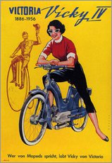 Cuadro de plexi-alu  Who's talking about mopeds, praises Vicky Victoria - Advertising Collection