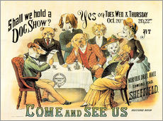 Cuadro de plexi-alu  Dog Show - Advertising Collection