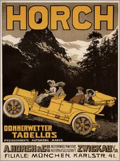 Vinilo para la pared  Horch cars - Golly impeccable - Advertising Collection