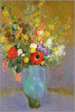 Póster  Bouquet of Wild Flowers - Odilon Redon