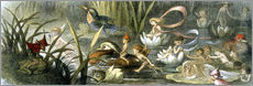Vinilo para la pared  Water-Lilies and Water Fairies - Richard Doyle