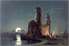 Vinilo para la pared  The Colossi of Memnon, Thebes - Carl Friedrich Heinrich Werner