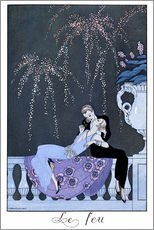 Cuadro de plexi-alu  The Fire - Georges Barbier