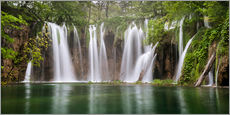 Vinilo para la pared  Paradise like waterfall in plitvice - Andreas Wonisch