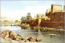 Cuadro de plexi-alu  Temple of Isis at Philae - Carl Friedrich Heinrich Werner