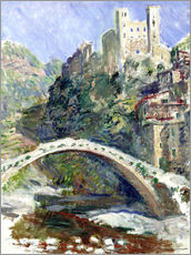 Vinilo para la pared  Castle of Dolceacqua - Claude Monet