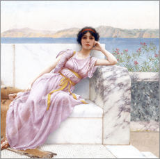 Cuadro de plexi-alu  Eighty and eighteen - John William Godward