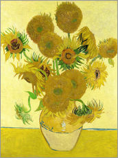 Vinilo para la pared  Sunflowers - Vincent van Gogh