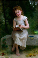 Cuadro de plexi-alu  The Reader - William Adolphe Bouguereau