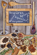 Cuadro de plexi-alu  Spices in different languages - Thomas Klee
