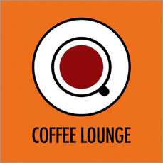 Vinilo para la pared Coffee Lounge, orange