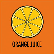 Vinilo para la pared Orange Juice