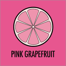 Vinilo para la pared Pink Grapefruit Juice